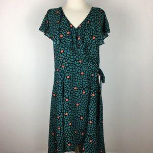 HD in Paris Floral Faux Wrap Dress size 14